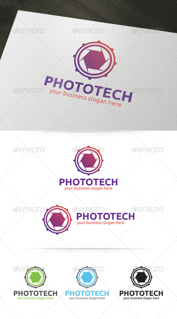 GraphicRiver Photo Tech Logo 4822251