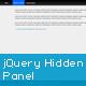 jQuery Hidden Panel