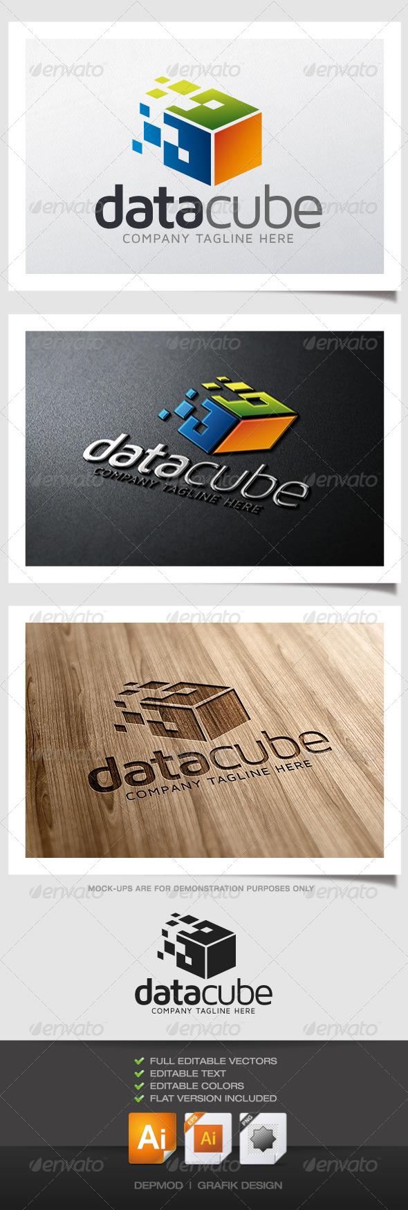 GraphicRiver Data Cube Logo 4822276