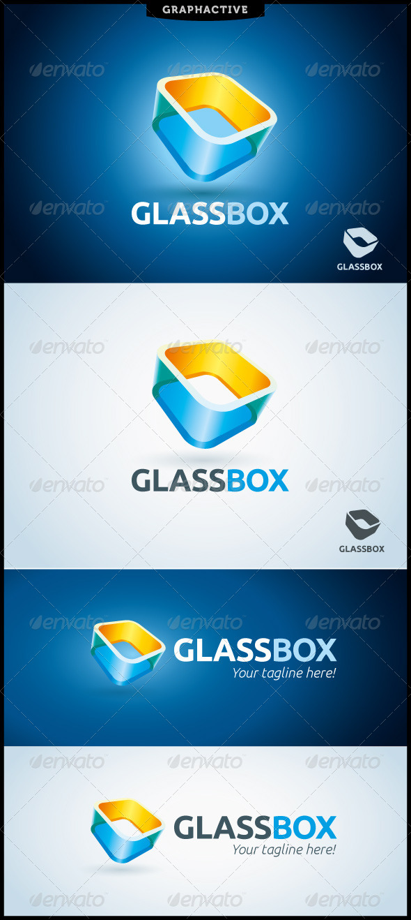 GraphicRiver GlassBox Logo Template 4822513