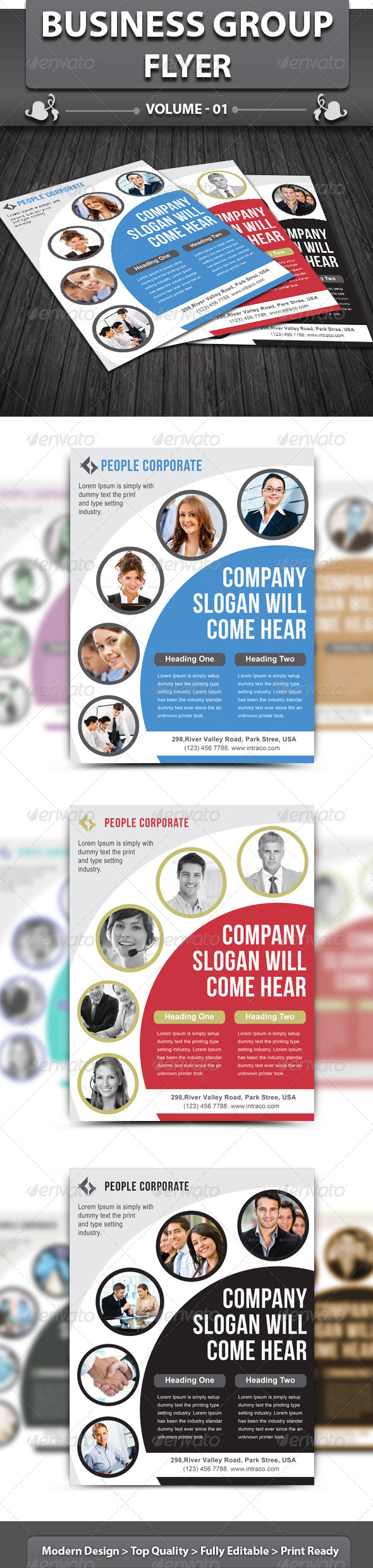 GraphicRiver Business Group Flyer 4062830
