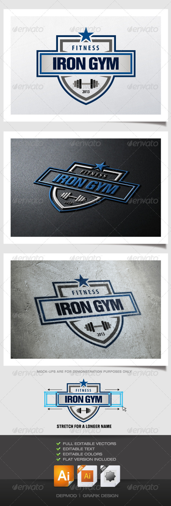 GraphicRiver Iron Gym Logo 4822528