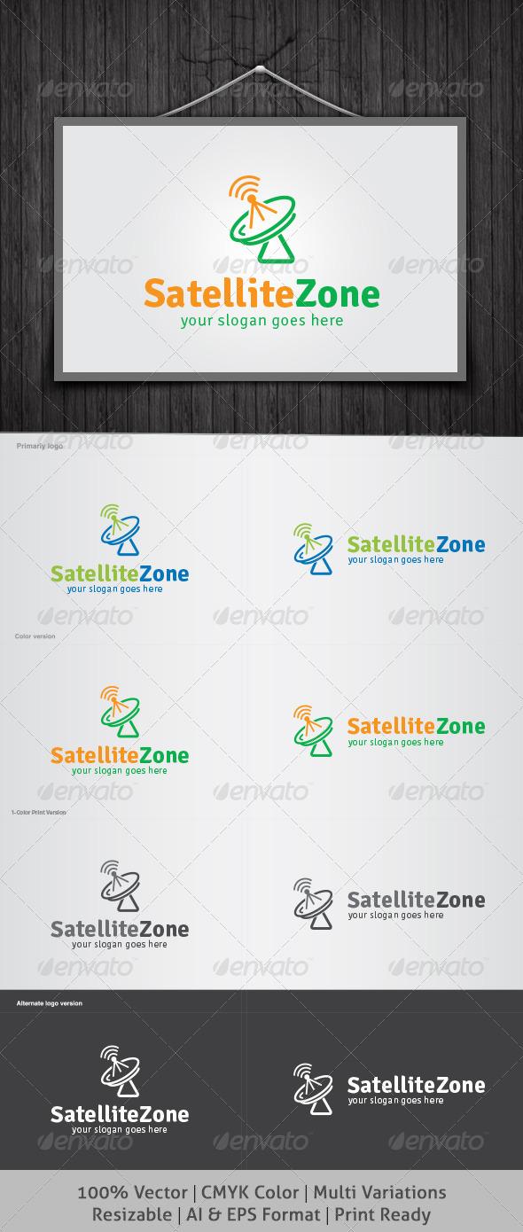GraphicRiver Satellite Zone Logo 4807392