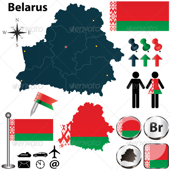 GraphicRiver Map of Belarus 4822732