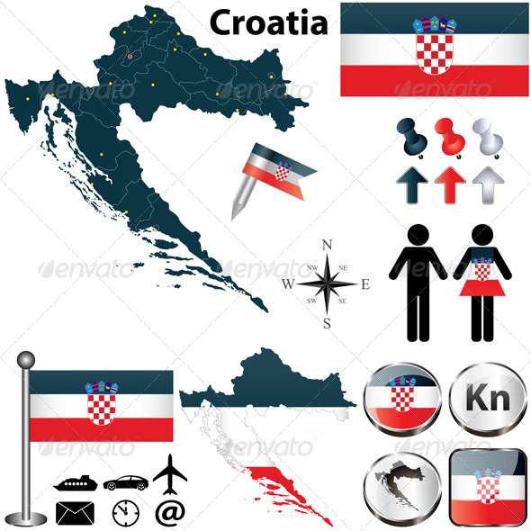 GraphicRiver Map of Croatia 4822740
