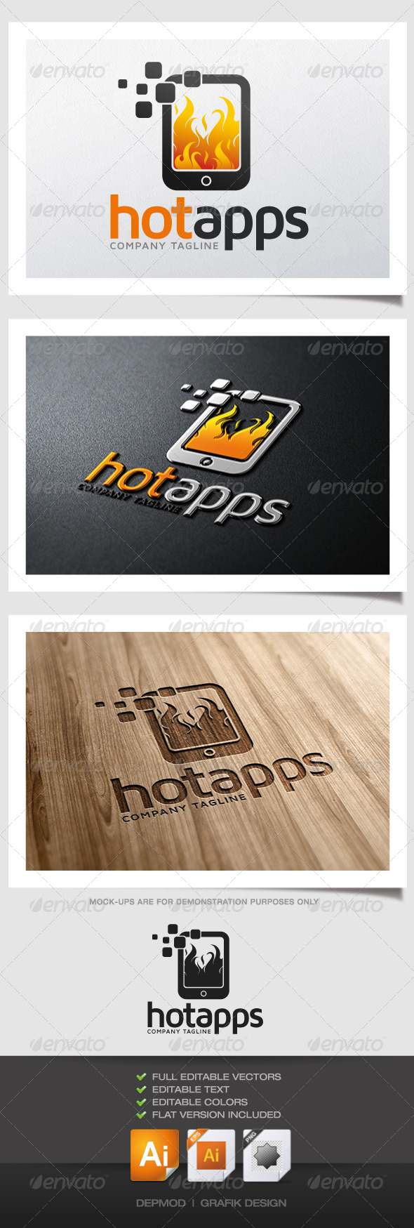 GraphicRiver Hot Apps Logo 4822760