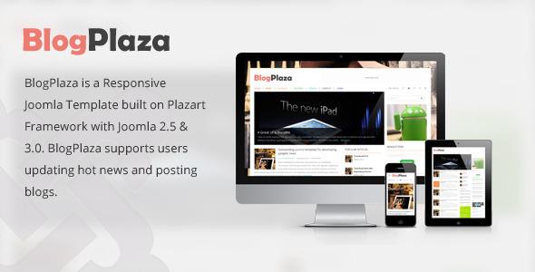 ThemeForest BlogPlaza Responsive Joomla Template 4823082