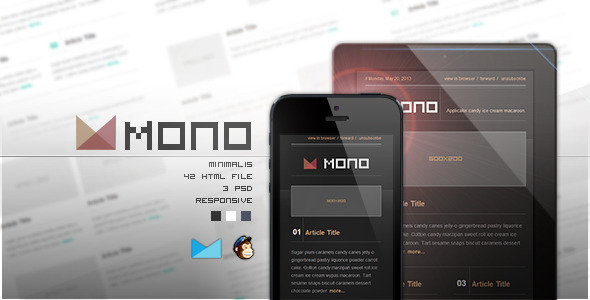 ThemeForest Mono Responsive E-mail Template 4823132