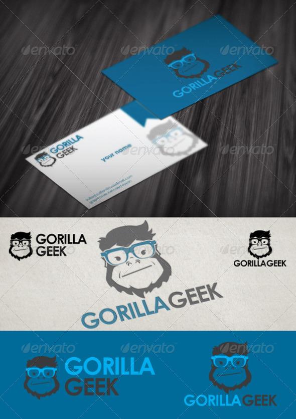 GraphicRiver Gorilla Geek Logo Tempate 4814818