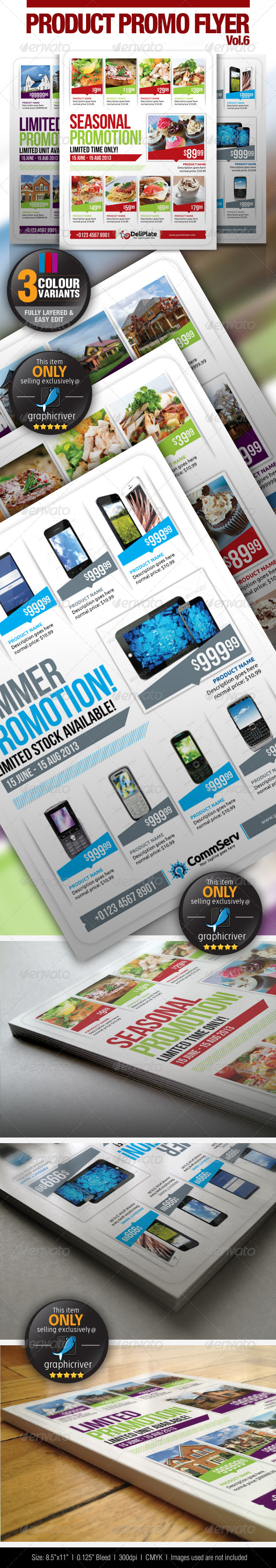 Multipurpose Product Promotion Vol.6 - Commerce Flyers
