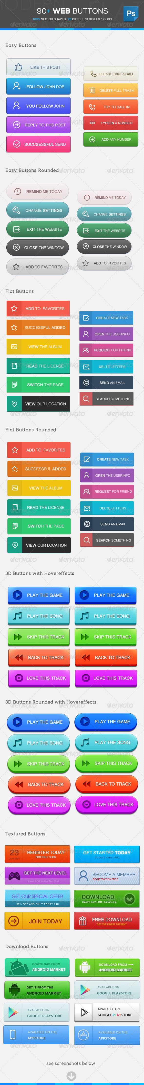 GraphicRiver 90& Web Buttons 4823561
