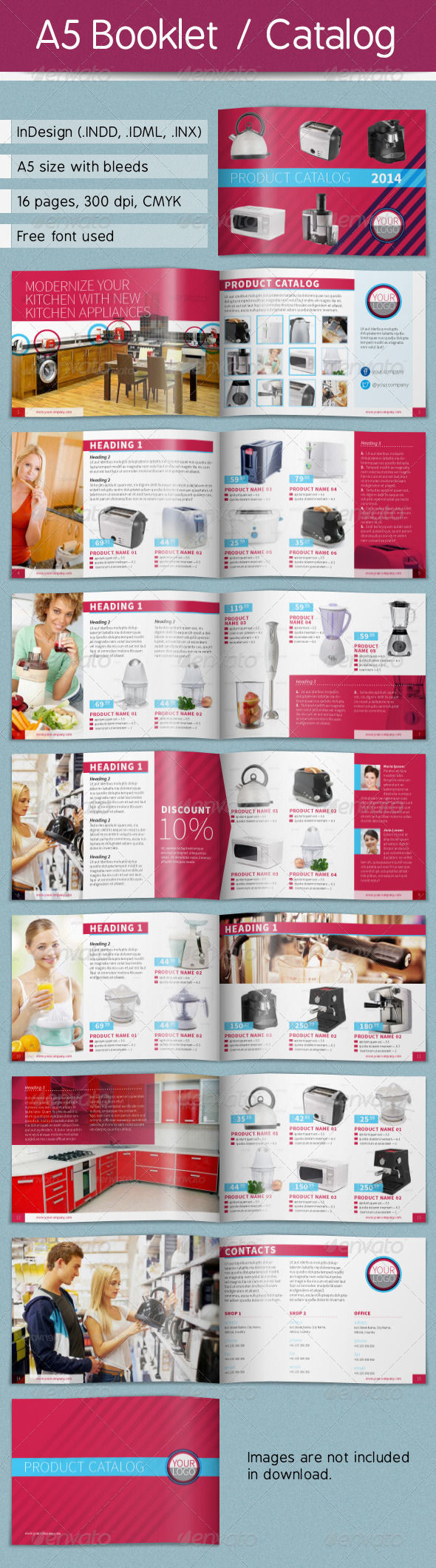 GraphicRiver A5 Booklet Catalog 4823612