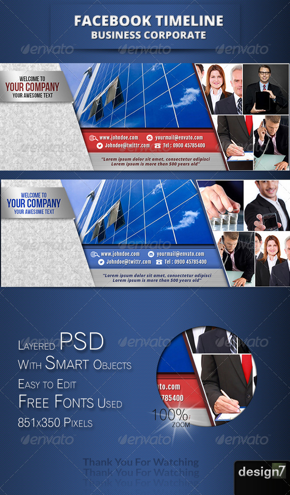 GraphicRiver Fb Timeline Business Corporate II 4755495