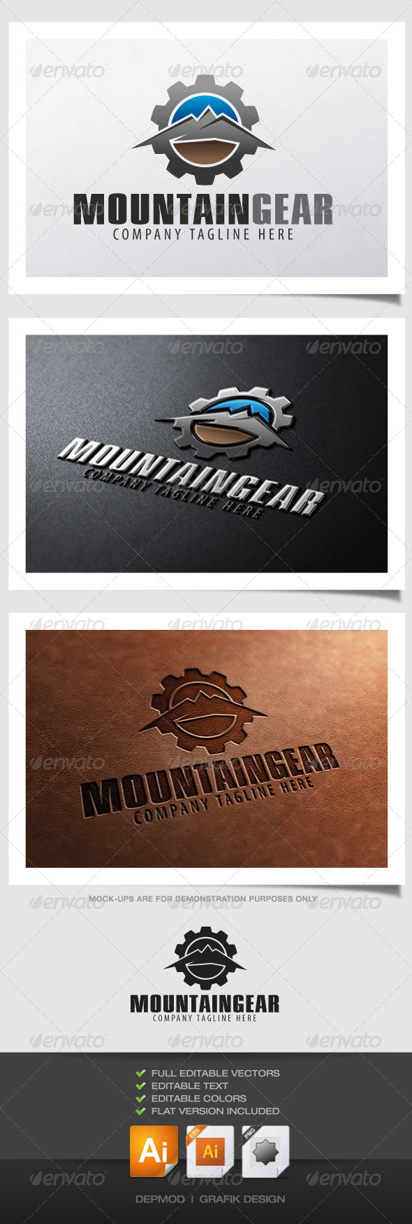 GraphicRiver Mountain Gear Logo 4823900