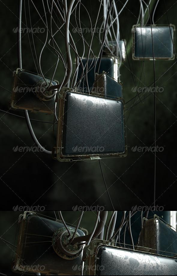 Dark Industrial Screens