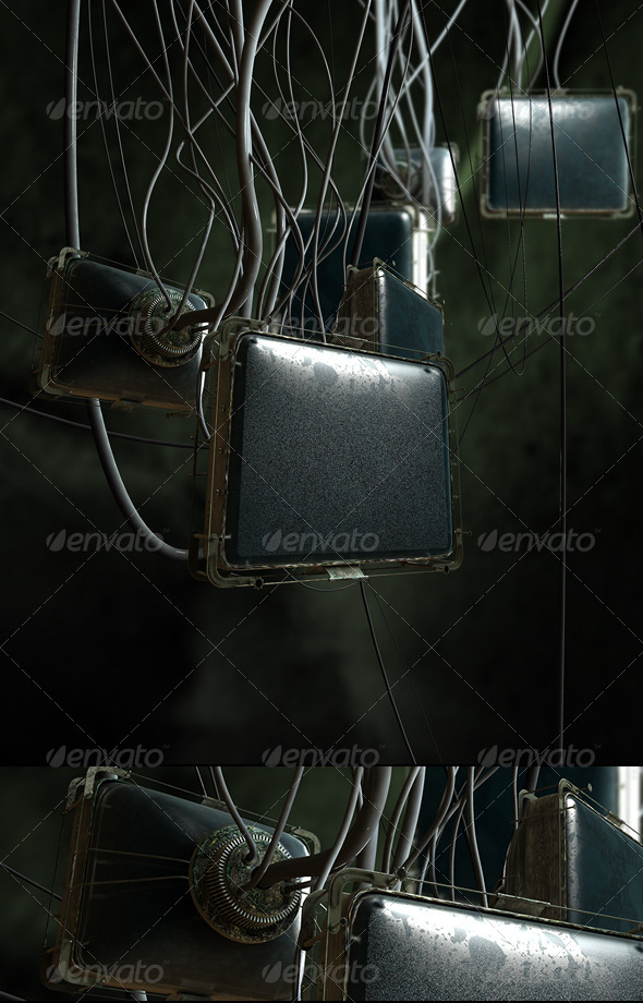 GraphicRiver Dark Industrial Screens 4764283