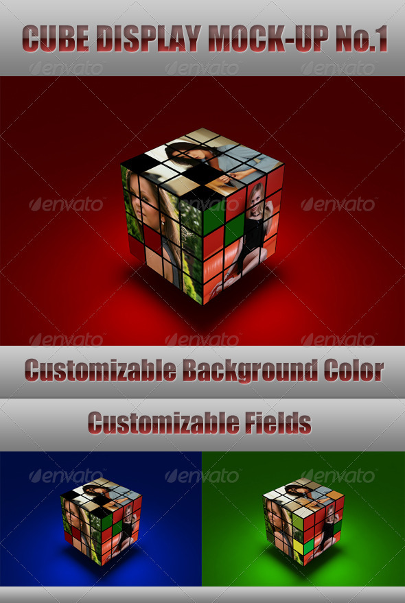 GraphicRiver Cube Display Mock-Up 500935