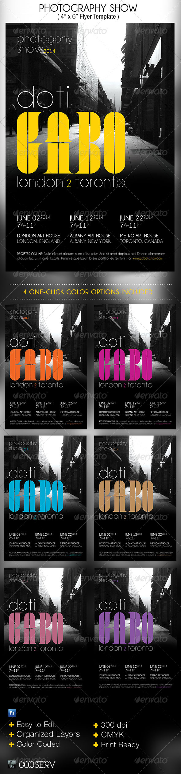 GraphicRiver Photography Show Flyer Template 4824464