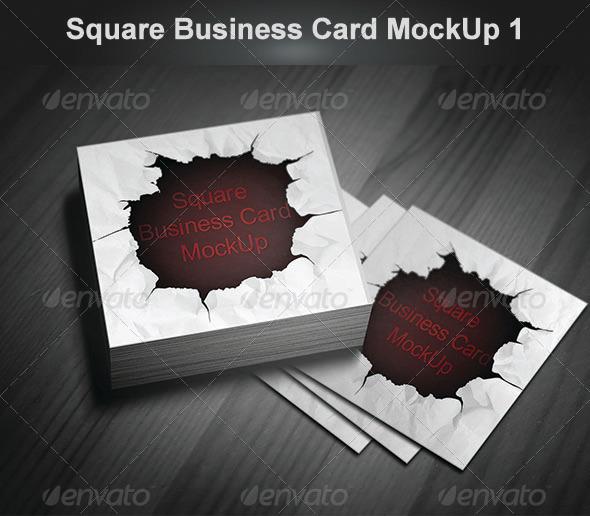 GraphicRiver Square Business Card MockUp 1 4824472