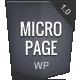 MicroPage - управляемое Page Wordpress Theme - Портфолио Креатив