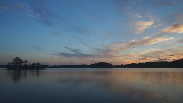 Sunset On Finish Lake