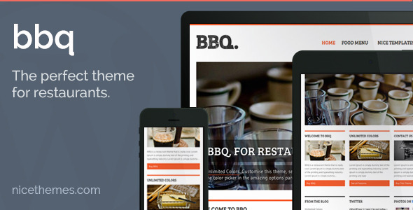 BBQ - Restaurant WordPress Theme - Restaurants & Cafes Entertainment