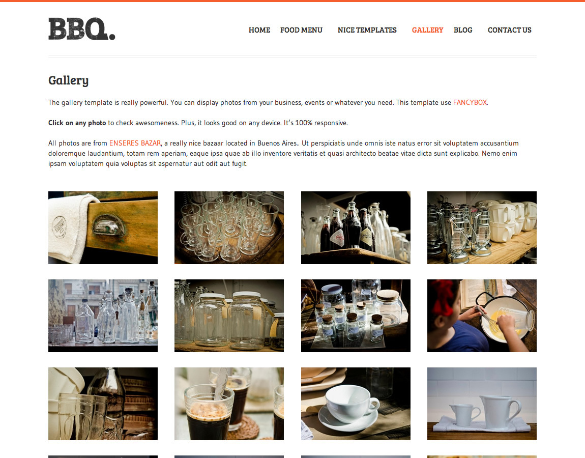 BBQ - Restaurant WordPress Theme