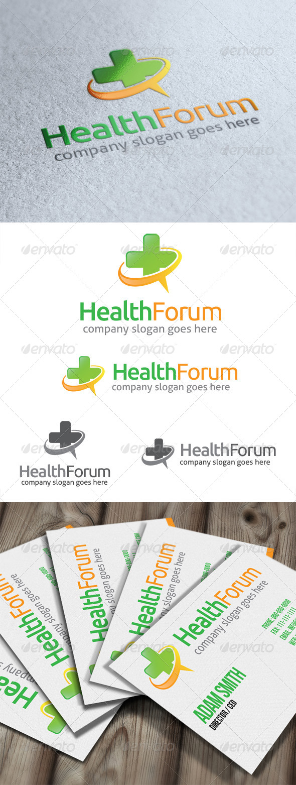 GraphicRiver Health Forum Logo 4805730