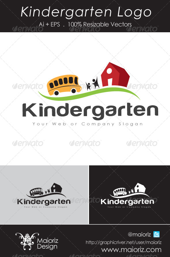 GraphicRiver Kindergarten Logo 2 4826208