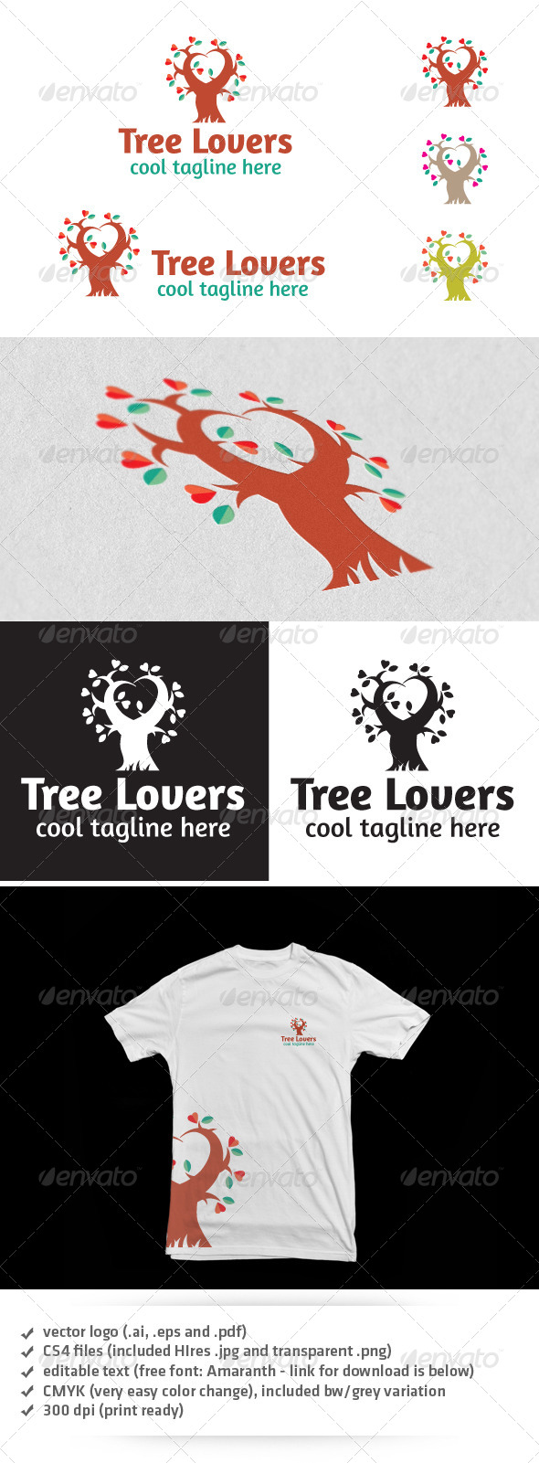 GraphicRiver Tree Lovers Logo 4807146