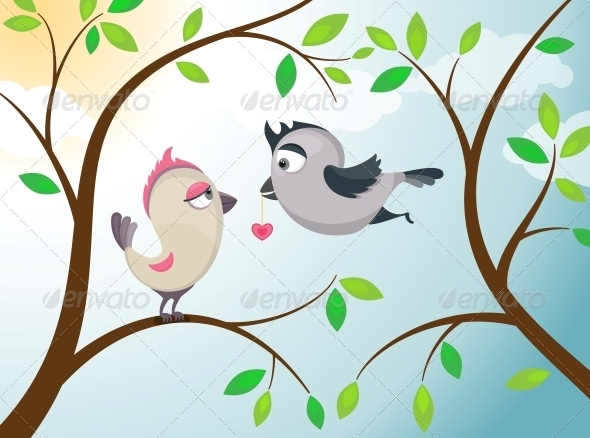 GraphicRiver Love Birds 4826279
