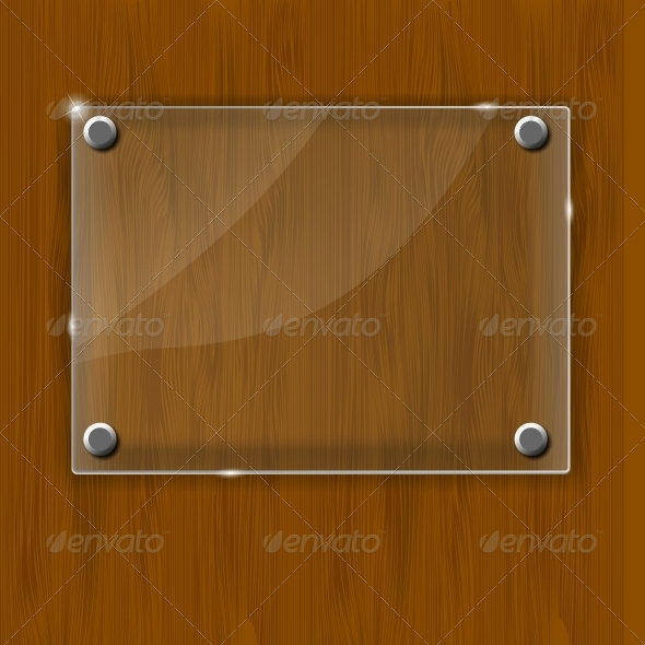 GraphicRiver Wooden Texture with Glass Framework Vector 4826296