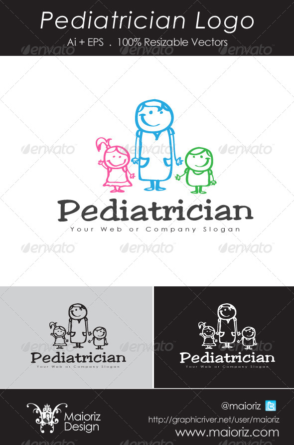 GraphicRiver Pediatrician Logo 4826325