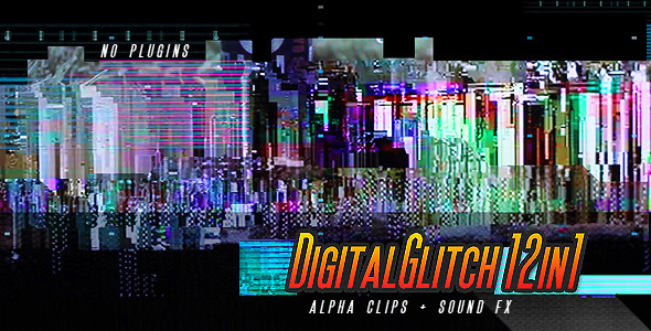 Digital Glitch Transitions 12-in-1
