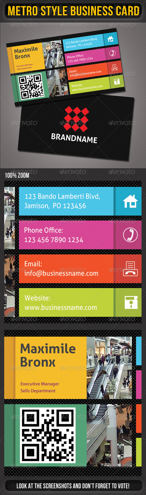 GraphicRiver Metro Business Card 01 4826491