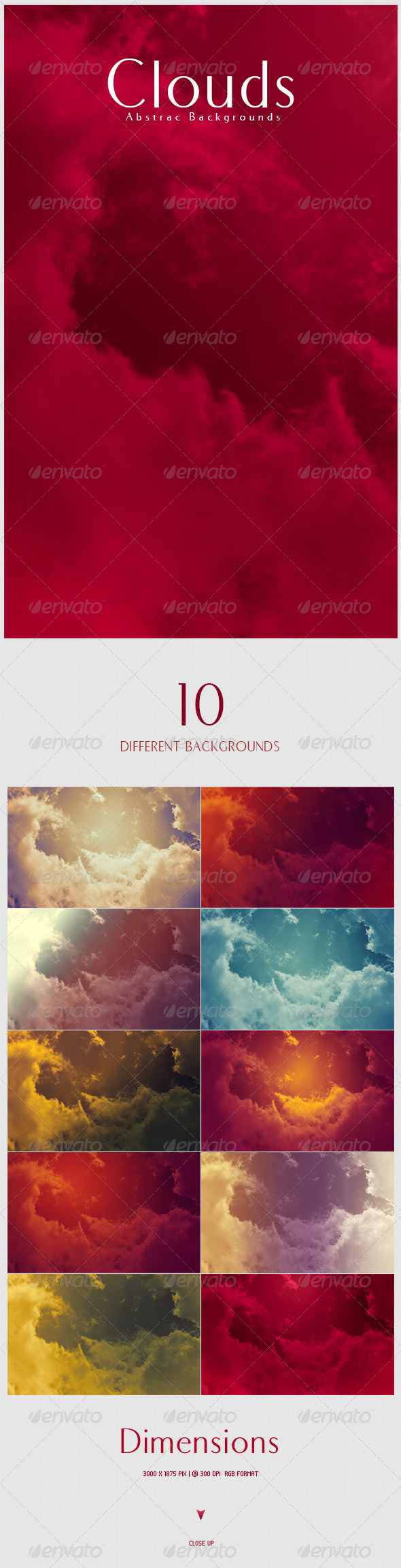 GraphicRiver Clouds Abstract Backgrounds 4826604