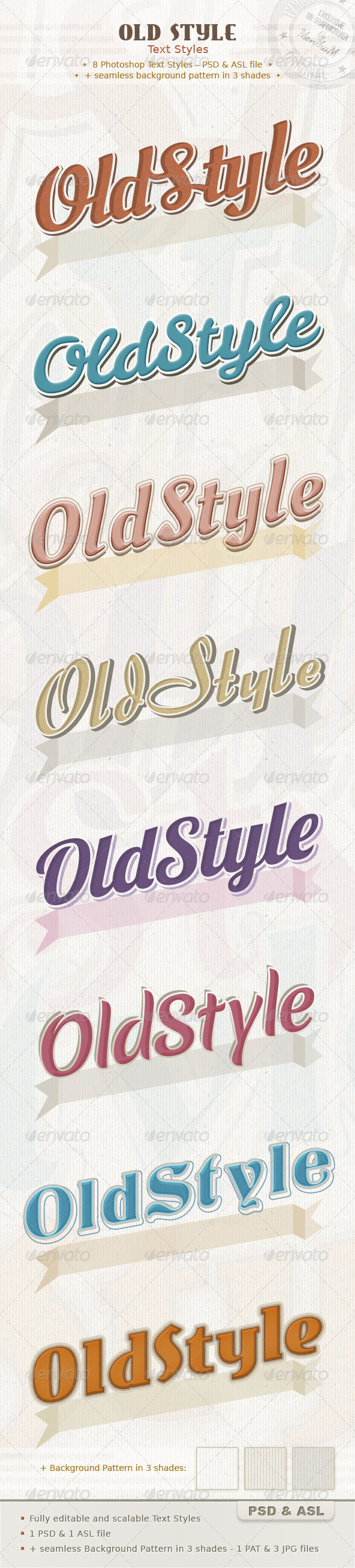 GraphicRiver Old Style Text Styles 4826673