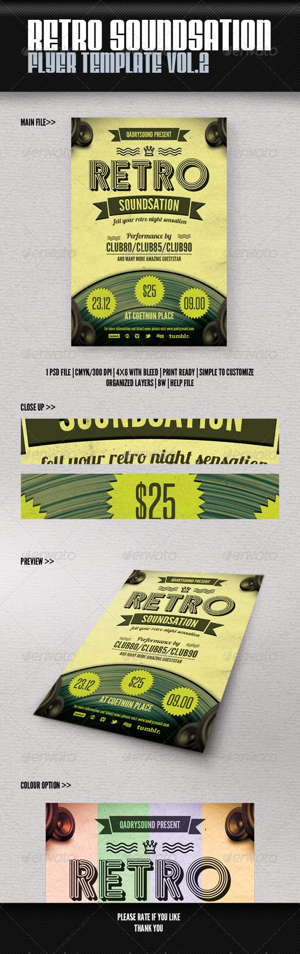 GraphicRiver Retro Soundsation Flyer Vol 2 4764477