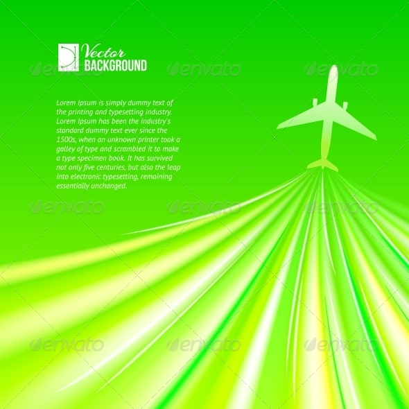 GraphicRiver Illustration of Airplane around the Green 4827066