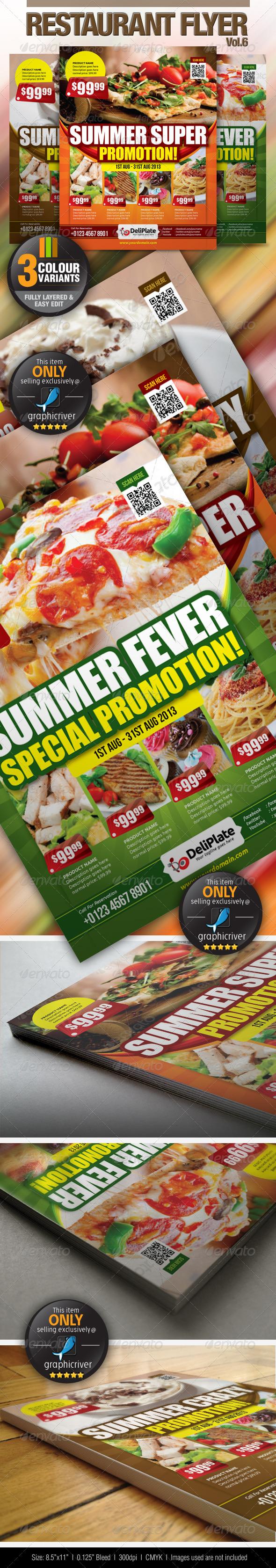 GraphicRiver Restaurant Flyer Vol.6 4827068