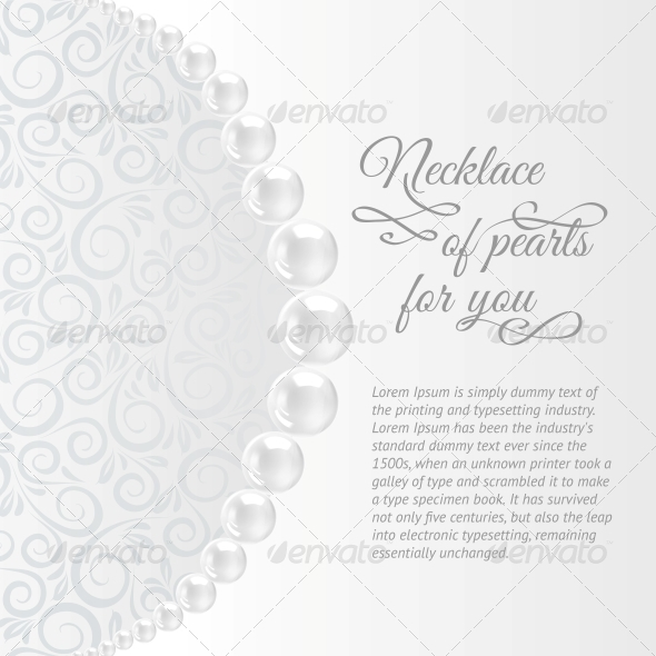 GraphicRiver Pearls on a White Background 4827070