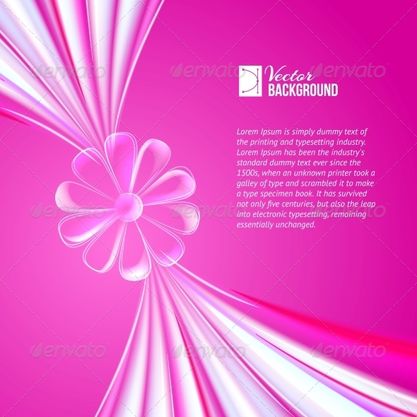 GraphicRiver Abstract Violet Glass Flower 4827107