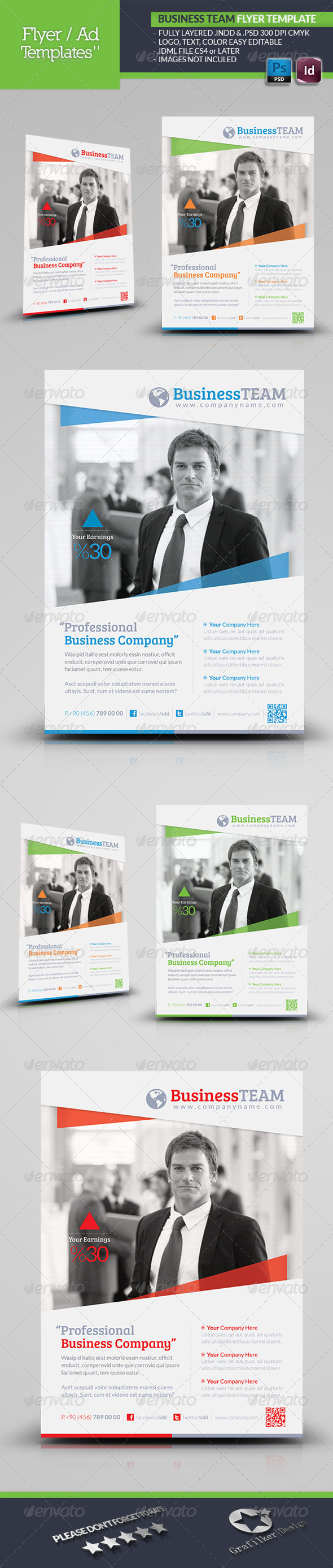 GraphicRiver Business Team Flyer Template 4827119