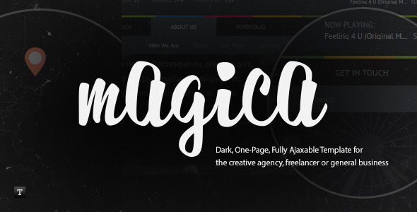 Magica - One Page, Fully Ajaxable HTML Template