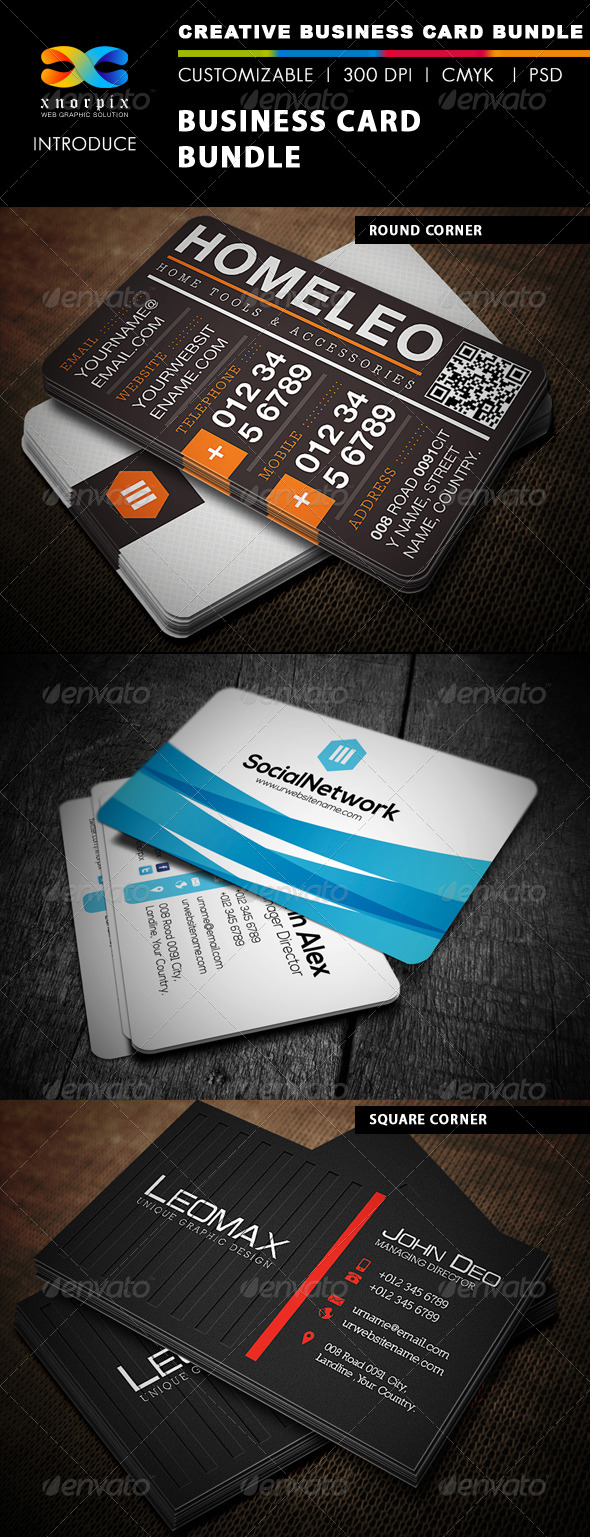 GraphicRiver Business Card Bundle 3 in 1-Vol 1 4827487