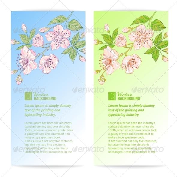 GraphicRiver Two Sakura Banners 4827581