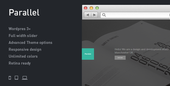 Parallel – Responsive Photography WordPress Theme (Photography) images
