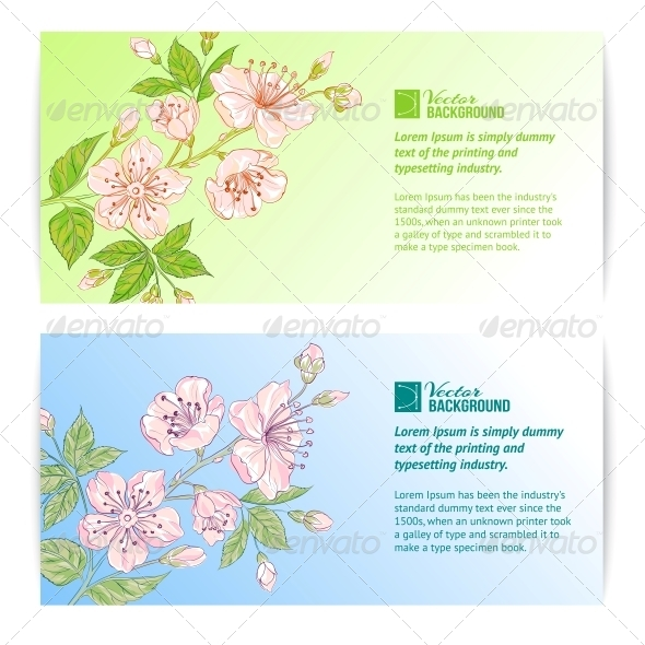 GraphicRiver Two Sakura Banners 4827638