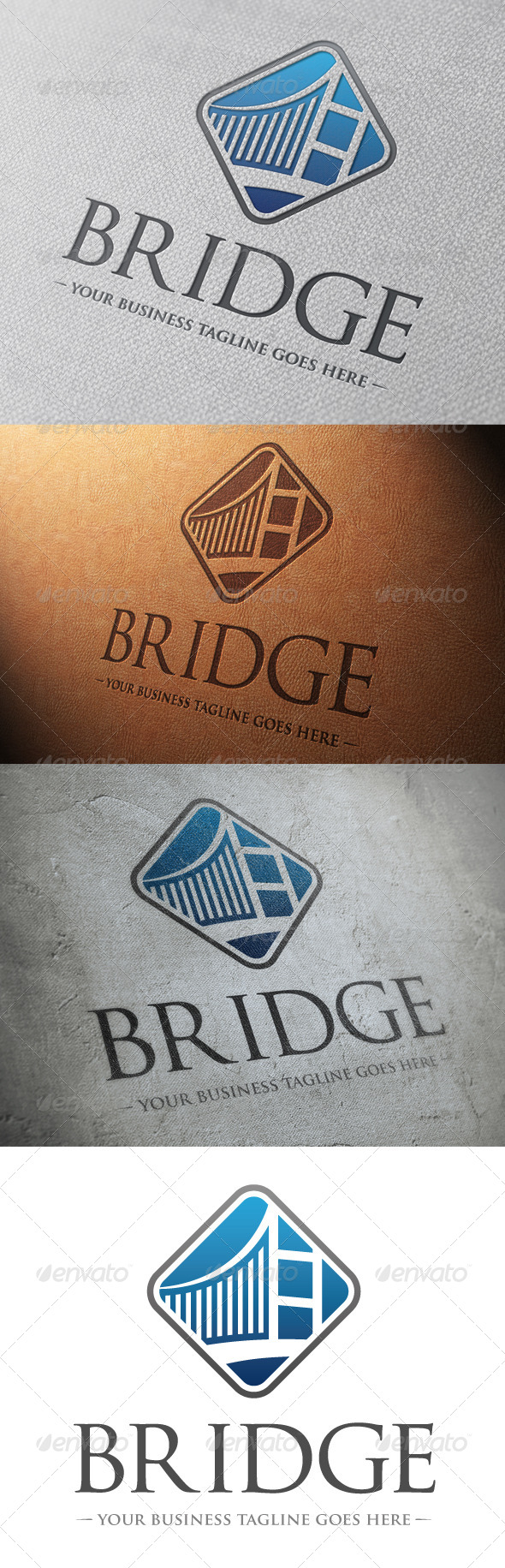 GraphicRiver Bridge Logo Template 4818797