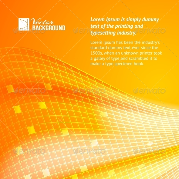 GraphicRiver Abstract Orange Tiles Background 4827913